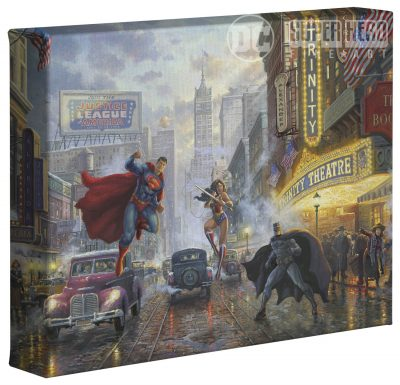 "Batman, Superman, Wonder Woman Trinity  - 8"" x 10"" Gallery Wrapped Canvas"