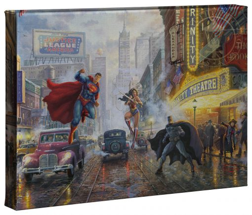"""Batman, Superman and Wonder Woman - 10"""" x 14"""" Gallery Wrapped Canvas"""