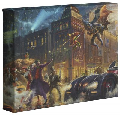 "Dark Knight Saves Gotham City   - 8"" x 10"" Gallery Wrapped Canvas"