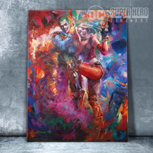 "The Joker and Harley Quinn - 11"" x 14"" Floating Acrylic Print"