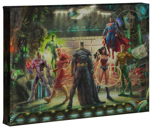 """The Justice League - 10"""" x 14"""" Gallery Wrapped Canvas"""