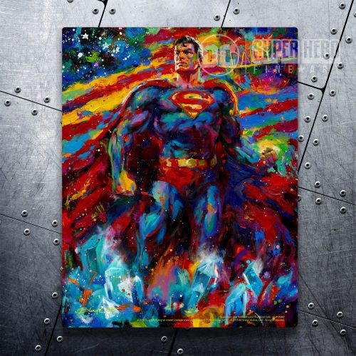 "Superman: Last Son of Krypton - 11"" x 14"" Floating Metal Print"