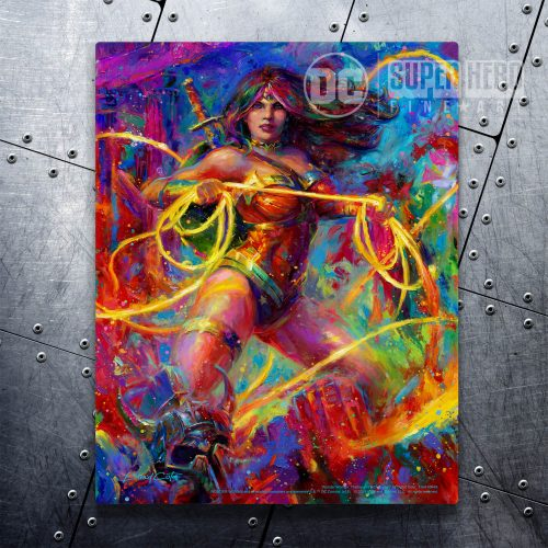 "Wonder Woman: Themyscira's Champion - 11"" x 14"" Floating Metal Print"