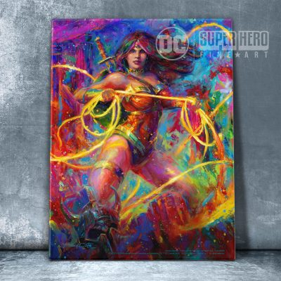 "Wonder Woman: Themyscira's Champion - 11"" x 14"" Floating Acrylic Print"