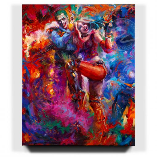 The Joker and Harley Quinn - Limited Edition Canvas