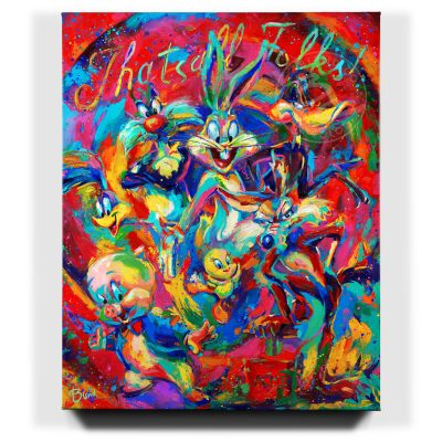 That's All Folks - Limited Edition Canvas