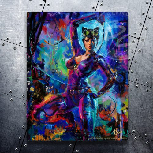"Catwoman - 11"" x 14"" Floating Metal Prints"