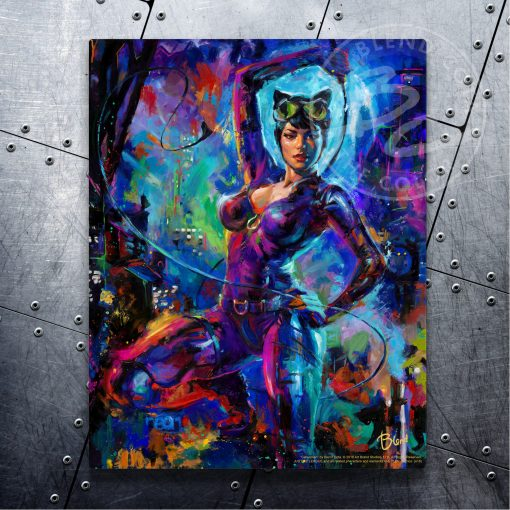 """Catwoman - 11"""" x 14"""" Floating Metal Prints"""