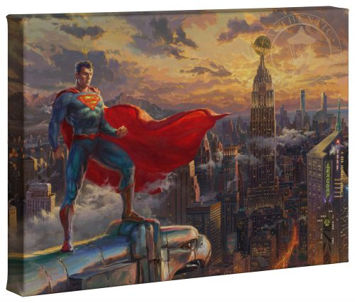 "Superman - Protector of Metroplis - 10"" x 14"" Canvas Gallery Wrap"