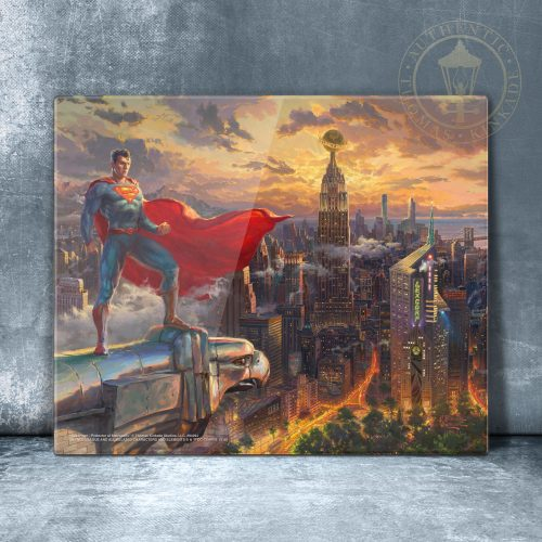 "Superman - Protector of Metroplis - 11"" x 14"" Floating Acrylic Print"