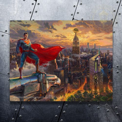 "Superman - Protector of Metroplis - 11"" x 14"" Floating Metal Print"
