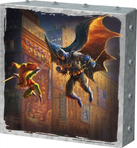"The Dark Knight Saves Gotham City - 10"" x 10"" Metal Box Art"