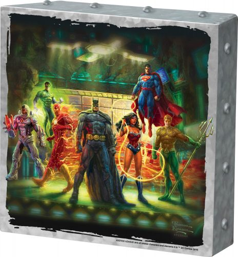 "The Justice League - 10"" x 10"" Metal Box Art"