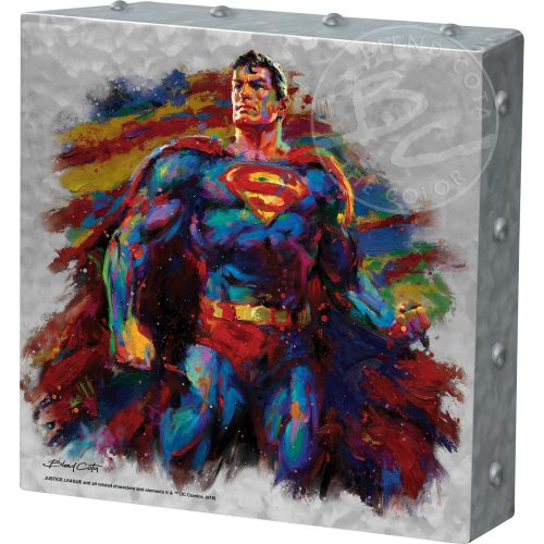 "Superman - Last Son of Krypton - 10"" x 10"" Metal Box Art"