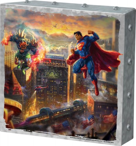 "Superman - Man of Steel - 10"" x 10"" Metal Box Art"