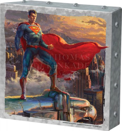 "Superman - Protector of Metropolis - 10"" x 10"" Metal Box Art"