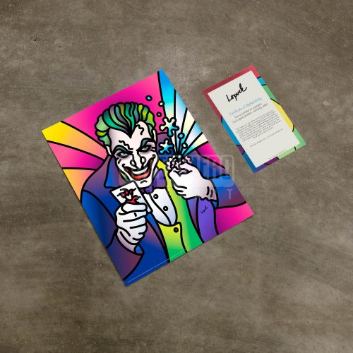 "The Joker by Lisa Lopuck - 14"" x 11"" Art Print"