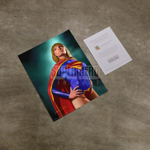 "Super Girl - 14"" x 11"" Art Print"