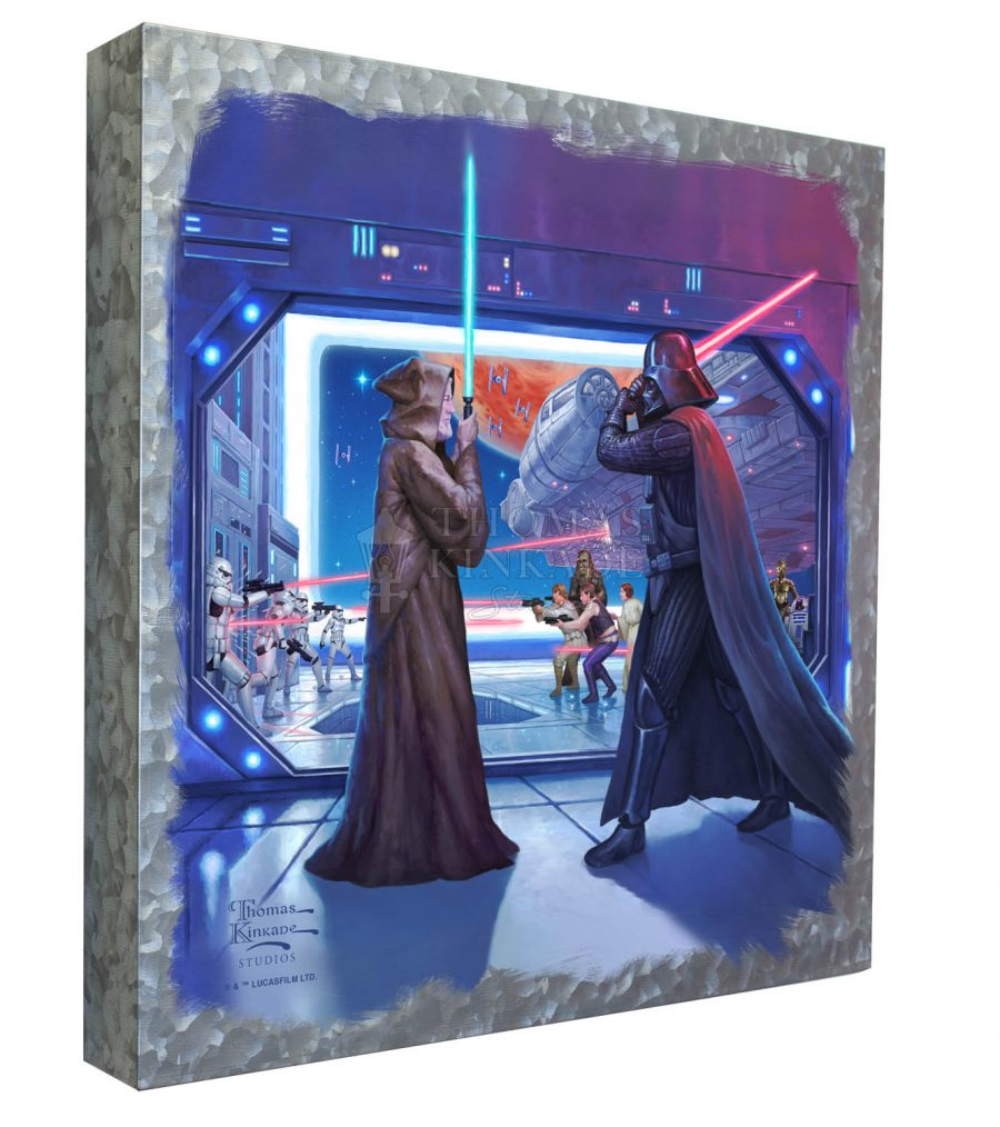"Obi-wan's Final Battle - 14"" x 14"" - Metal Box Art"