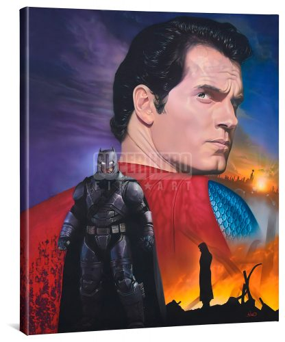 "Batman vs. Superman - Do You Bleed - 24"" x 30"" Gallery Wrapped Canvas"