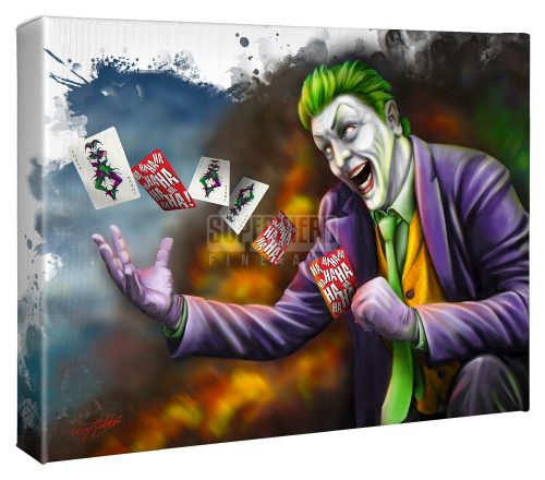 "The Joker - 11"" x 14"" Gallery Wrapped Canvas"