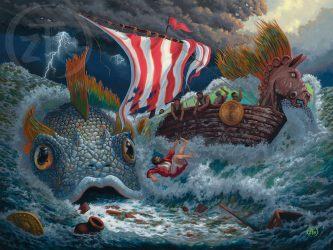 Zac Kinkade releases second painting in Bible Stories collection