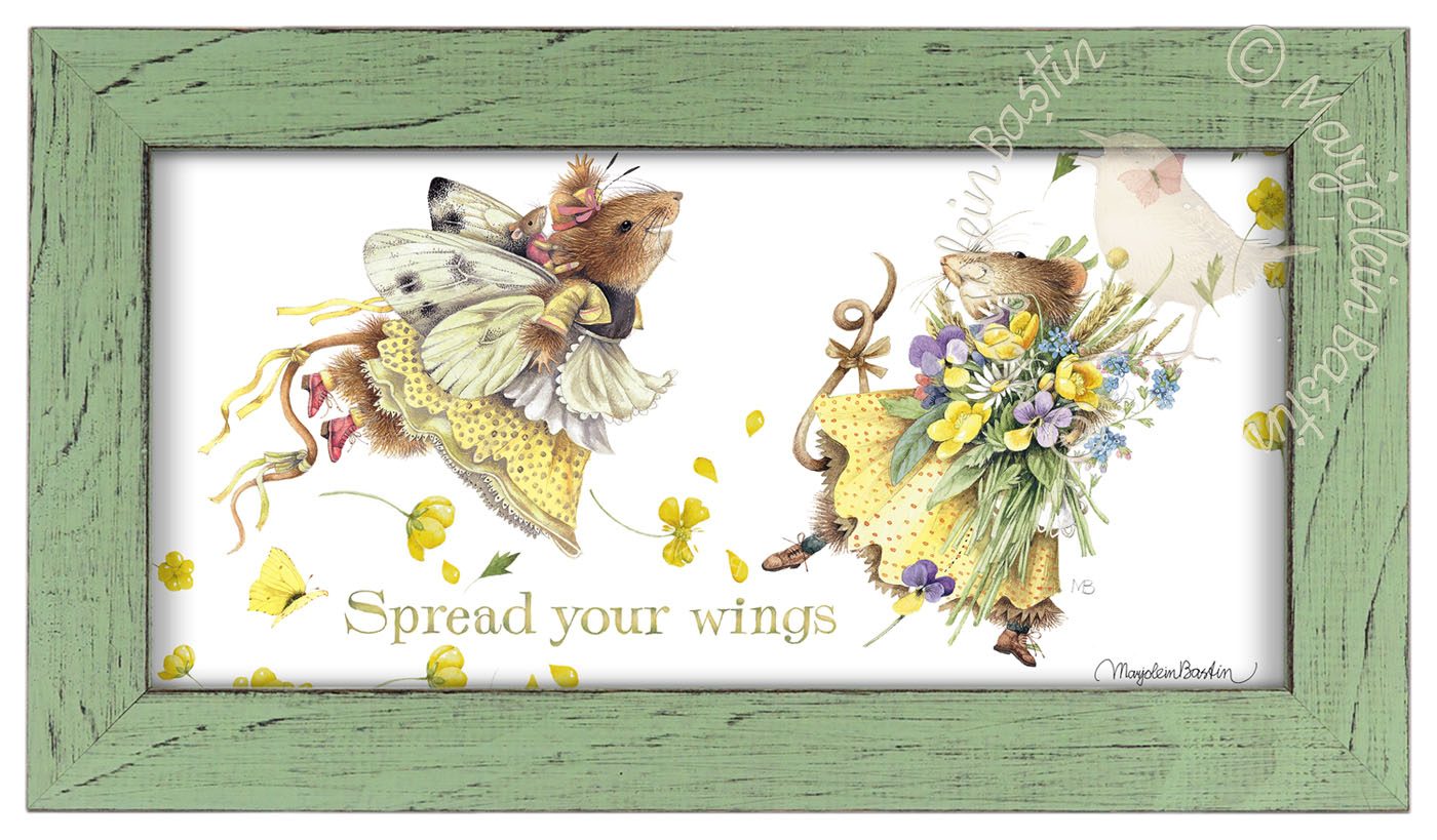 Spread your Wings – 9 3/8″ x 16 3/8″ Framed Prints (Mint Green Frame ...