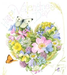 Floral Heart Art by Marjolein Bastin