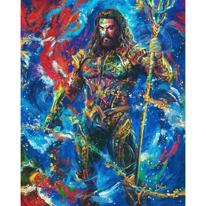 Aquaman inspired art from Blend Cota