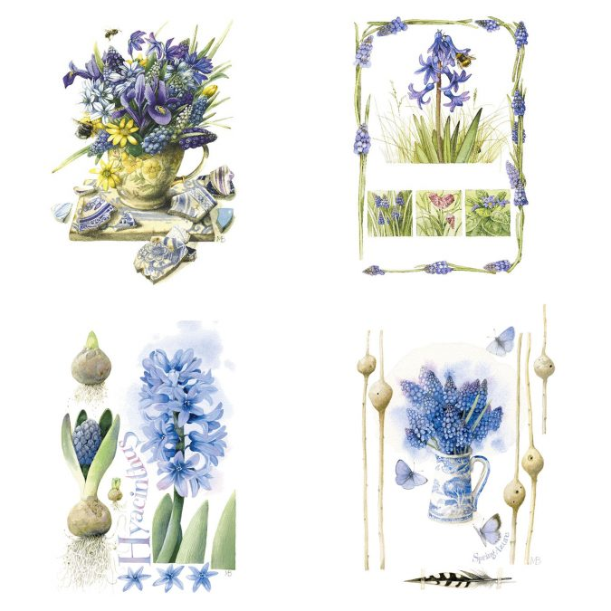 Spring Flowers-Lily of Hyacinth Art by Marjolein Bastin