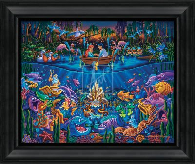 "Little Mermaid - Part of Your World - 19"" x 22.5"" Framed Canvas Prints"