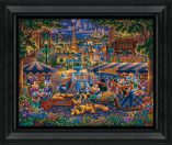 "Mickey and Friends Painting in Paris - 19"" x 22.5"" Framed Canvas Prints"