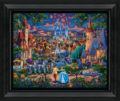 "Cinderella's Enchanted Evening - 19"" x 22.5"" Framed Canvas Prints"