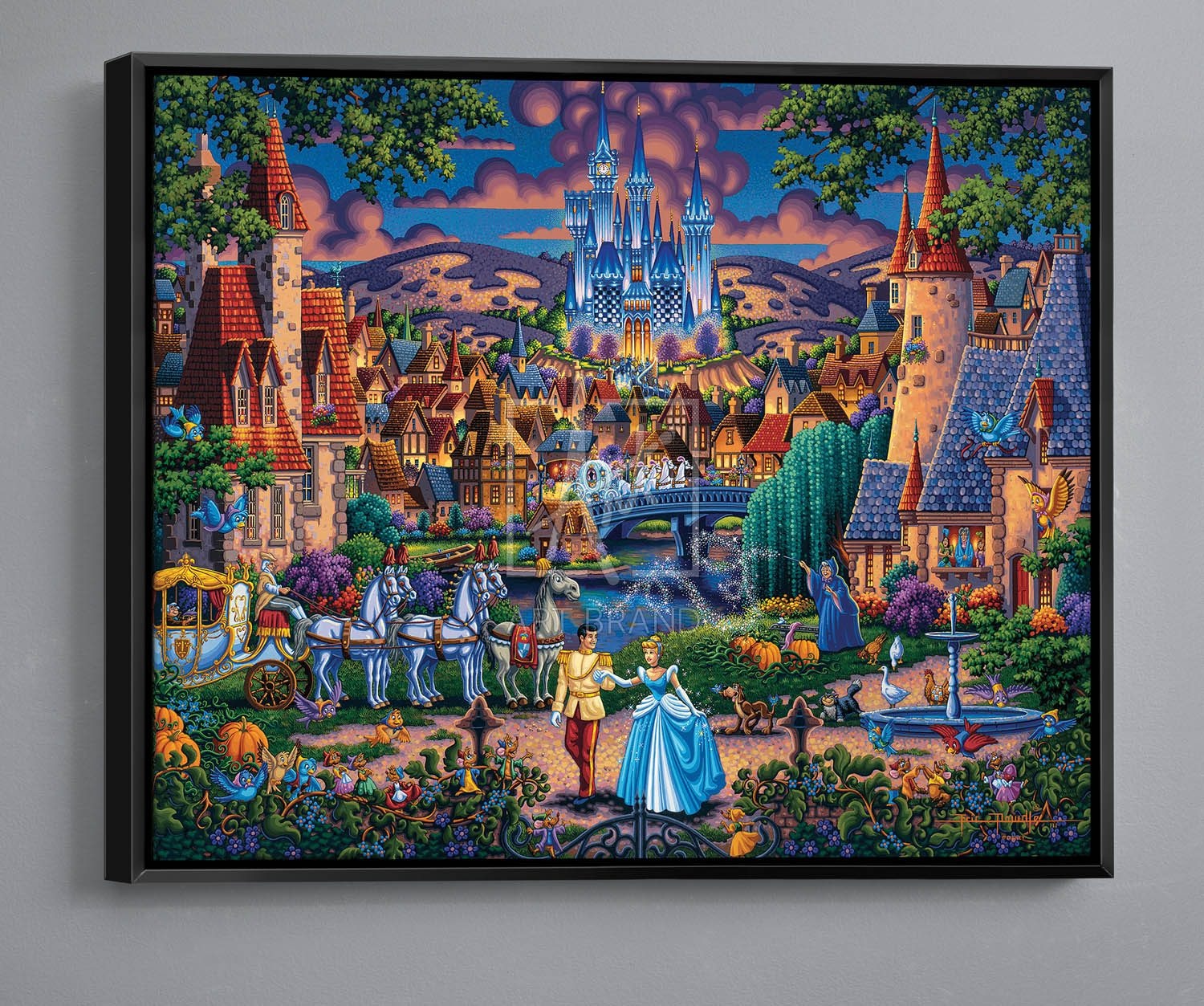 "Cinderella's Enchanted Evening - 30"" x 37"" Canvas Wall Murals"